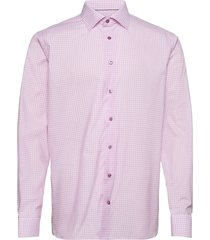 contemporary fit blue lightweight twill shirt overhemd business roze eton