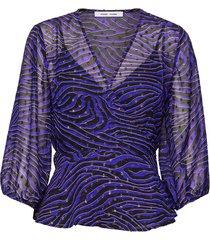 veneta blouse aop 11243 blus långärmad lila samsøe samsøe