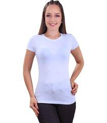 mini t-shirt dama cuello redondo blanco s bocared maite 27011663