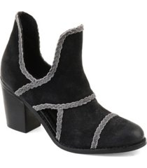 journee signature women's courtny booties women's shoes