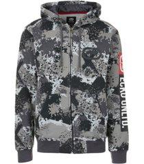 ecko unltd men's sponge camo zip up hoodie