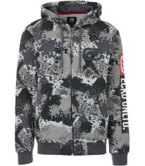 ecko unltd men's sponge camo zip up hoodie