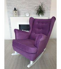 fotel bujany casablanca fioletowy welur