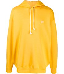 acne studios oversized cotton hoodie - yellow