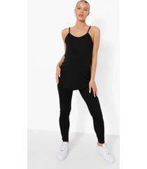 zwangerschap 2 hemdjes en legging (3 stuks), black