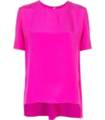 adam lippes short-sleeved crepe top - pink