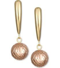 ball drop earrings in 10k gold