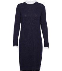 dresses flat knitted jurk knielengte blauw esprit casual