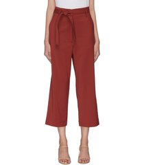 'giuditta' belted virgin wool crop pants