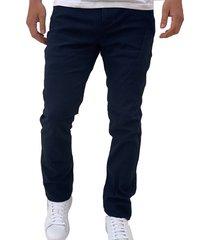 pantalon dril azul oscuro oscar de la renta b9pnt06-nv