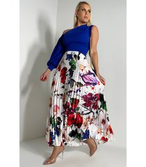 akira her way pleated maxi skirt