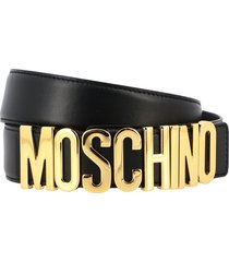 moschino couture belt moschino couture leather belt with lettering