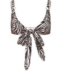 animal mix wrap top bikinitop svart stella mccartney lingerie