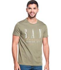 camiseta slim san francisco verde hoja seca
