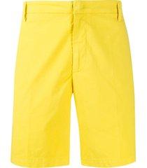 dondup manheim straight-leg bermuda shorts - yellow