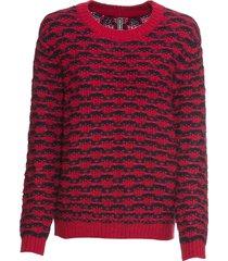 maglione jacquard bicolore (rosso) - rainbow