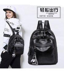 mochila casual mujeres- 2018 tendencia de la moda-negro