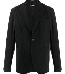 karl lagerfeld unlined buttoned blazer - black