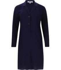 vestido camisero color azul, talla 10