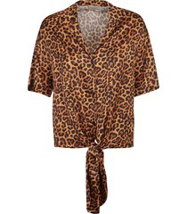 laneus animal printed top