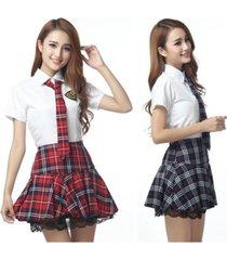 new japanese school uniform girl dress blue skirt uniform korean costume cosplay