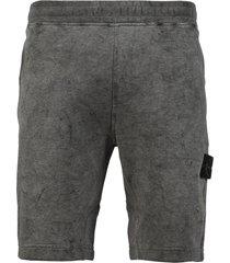 dust color treatment sweat shorts,