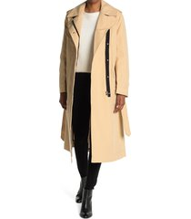 women's rag & bone ludlow turkish cotton twill belted trench coat, size x-small - beige