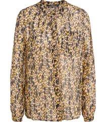blouse met luipaardprint sas  multi