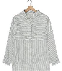 camisa blanco-negro mng