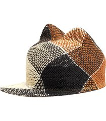 'jamie' check cat ear hat
