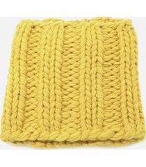 j.w. anderson yellow knit neck warmer