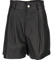 red valentino leather shorts