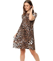 vestido animal print portsaid  guaruja