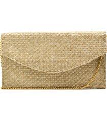 bolsa de festa hendy bag envelope palha - tricae