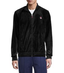 fila men's full-zip velour jacket - red - size l
