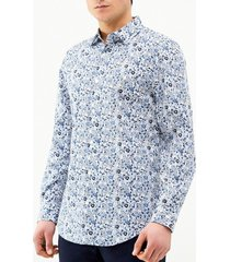 camisa casual estampada flores perry ellis