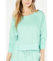 miken juniors' cropped cover-up sweatshirt, created for macy's women's swimsuit