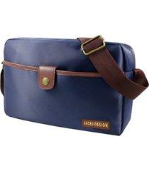 bolsa transversal masculina jacki design for men azul marrom