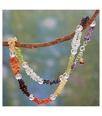 gemstone chakra necklace, 'spirit of friendship' (india)