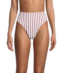 emily striped bikini bottom