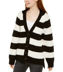 calvin klein jeans striped cardigan