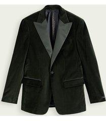 scotch & soda satin-trimmed velvet blazer