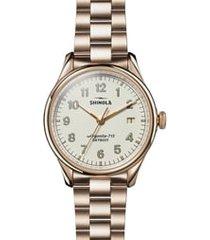 women's shinola the vinton bracelet watch, 38mm