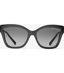 mk occhiali da sole barbados - nero (nero) - michael kors