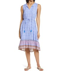beachlunchlounge lou lou belted sleeveless shift dress, size large in goa at sunset at nordstrom