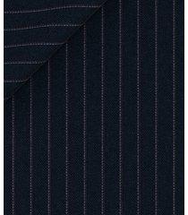pantaloni da uomo su misura, tallia di delfino, doppio rigato blu, quattro stagioni | lanieri