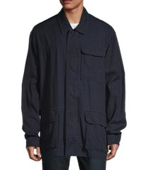 john varvatos star u.s.a. men's mackey cotton field jacket - indigo - size s