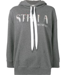 logo hoodie medium grey