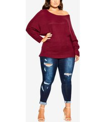 city chic women's trendy plus size romance wool blend sweater