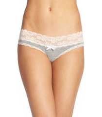 women's honeydew intimates ahna thong, size small - grey